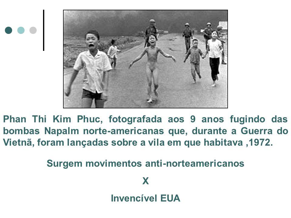 Phan Thi Kim Phuc, fotografada aos 9 anos fugindo das bombas Napalm norte-americanas que, durante a Guerra do Vietnã, foram lançadas sobre a vila em q