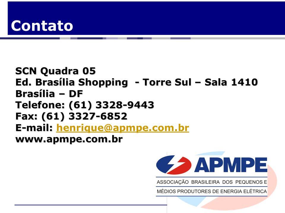 Contato SCN Quadra 05 Ed. Brasília Shopping - Torre Sul – Sala 1410 Brasília – DF Telefone: (61) 3328-9443 Fax: (61) 3327-6852 E-mail: E-mail: henriqu
