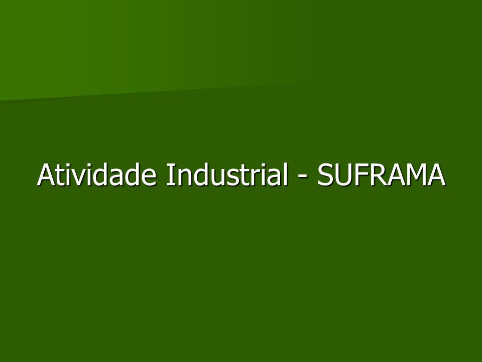 Atividade Industrial - SUFRAMA