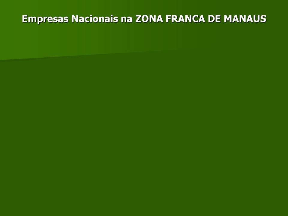 Empresas Nacionais na ZONA FRANCA DE MANAUS