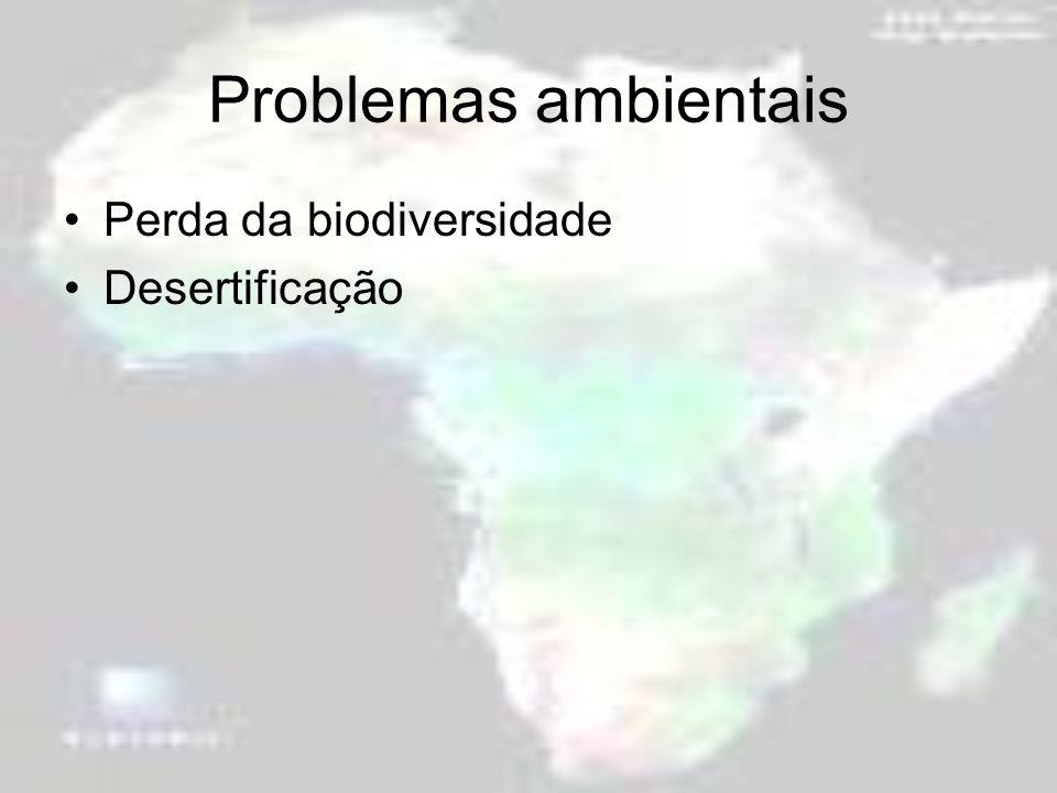 Problemas ambientais Perda da biodiversidade Desertificação