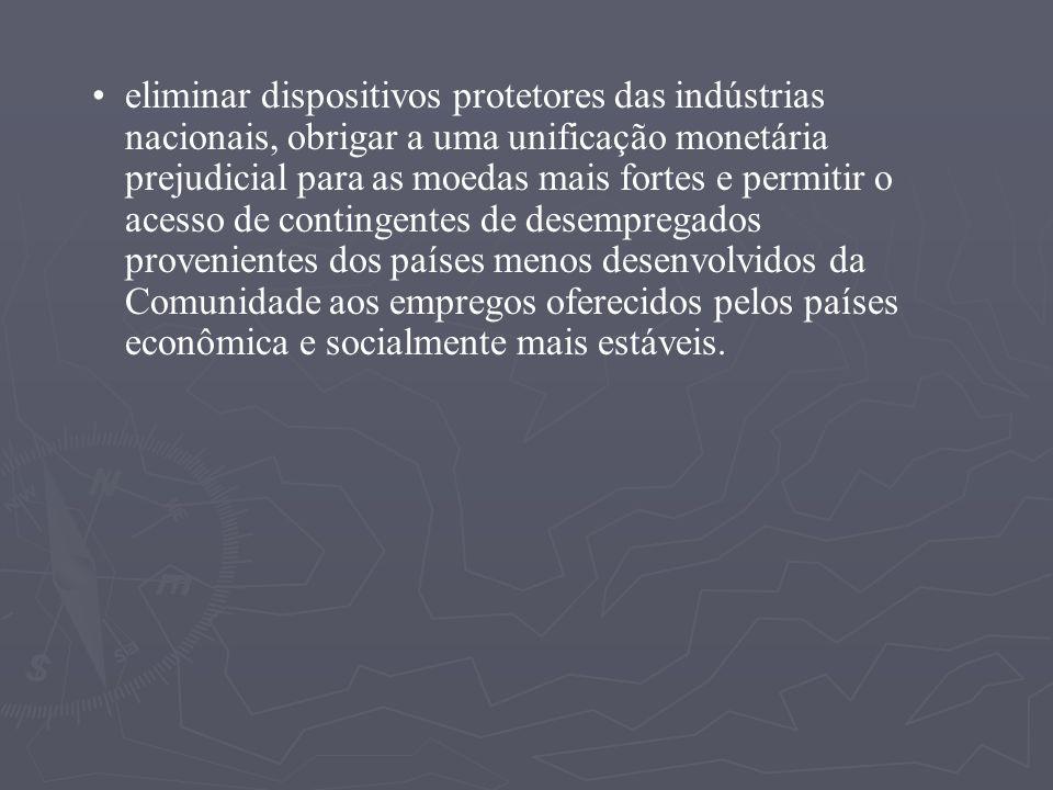 PRINCIPAIS PROBLEMAS Principais dificuldades. A oposição à União Européia manifestada por amplos setores da população, -- como por exemplo na Dinamarc