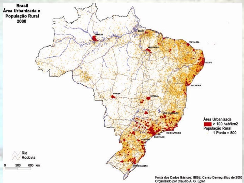 Espaços diferenciados Interior das cidades Diferentes tipos de bairros –Residenciais de classe alta edge cities –Residenciais de classe média Classes subalternas –Subúrbios –Favelas –Cortiços em centros degradados