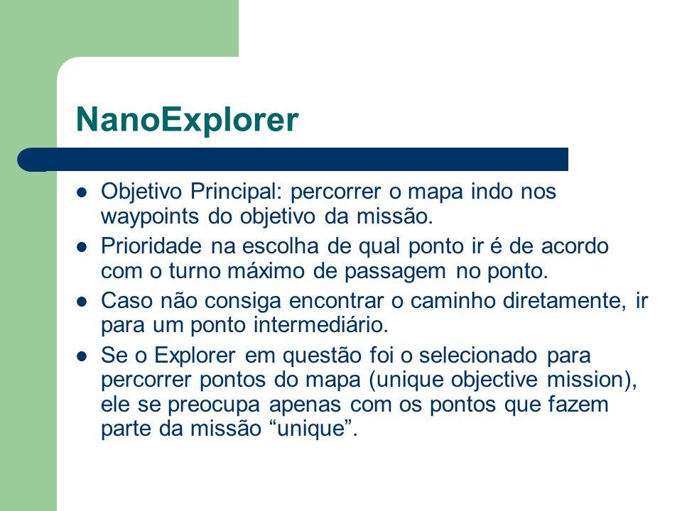 NanoExplorer Objetivo Principal: percorrer o mapa indo nos waypoints do objetivo da missão.