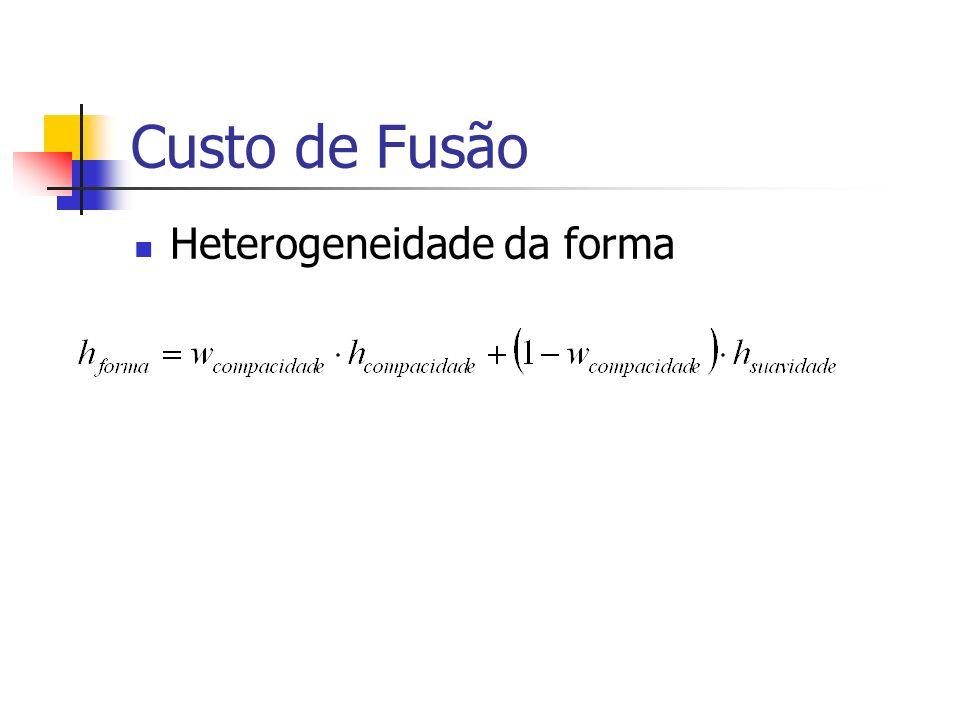 Custo de Fusão Heterogeneidade da forma
