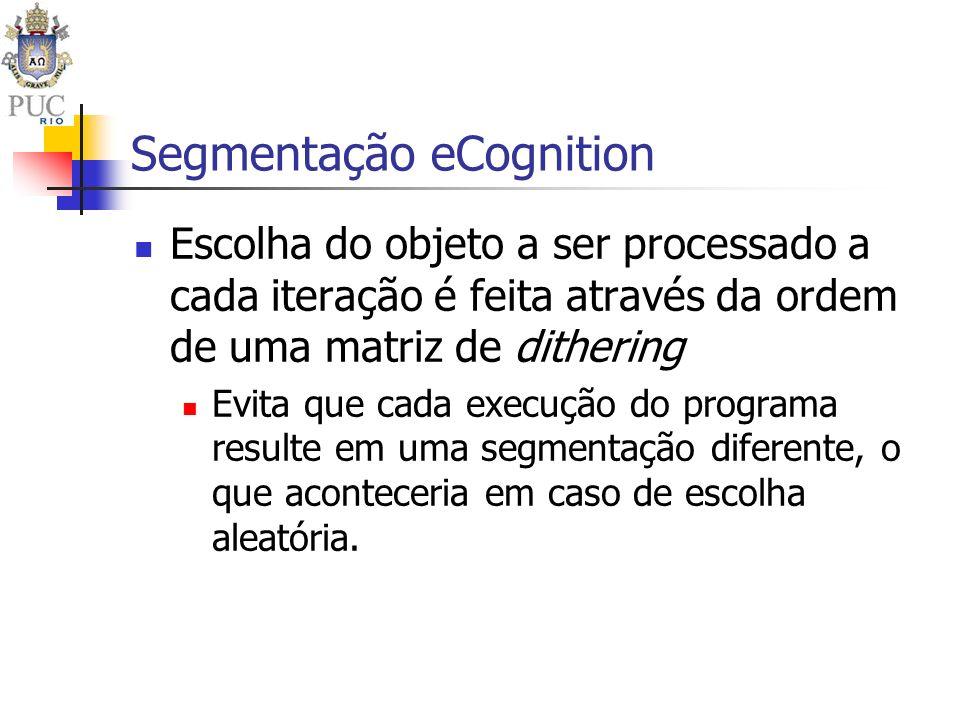Escolha do objeto a ser processado a cada iteração é feita através da ordem de uma matriz de dithering Evita que cada execução do programa resulte em
