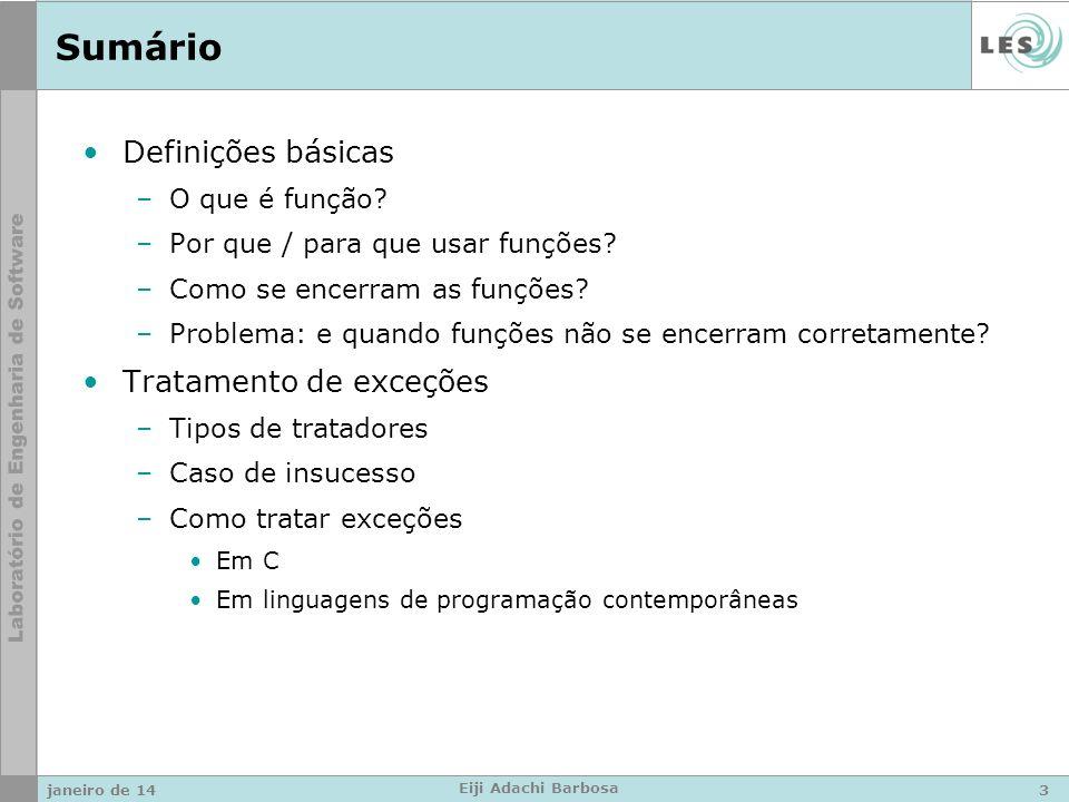 Sumário Definições básicas –O que é função. –Por que / para que usar funções.