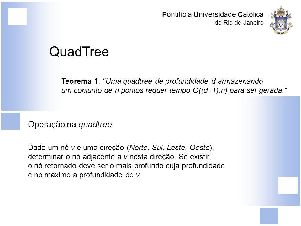 Pontifícia Universidade Católica do Rio de Janeiro QuadTree Teorema 1:
