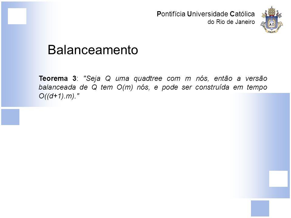 Pontifícia Universidade Católica do Rio de Janeiro Balanceamento Teorema 3: