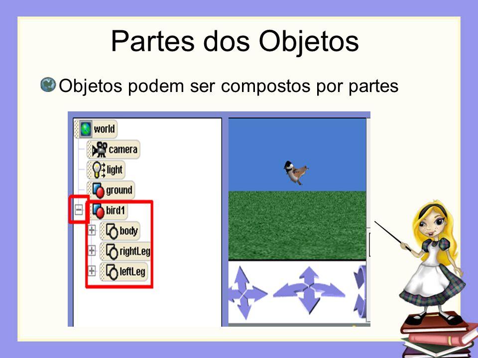 Partes dos Objetos Objetos podem ser compostos por partes