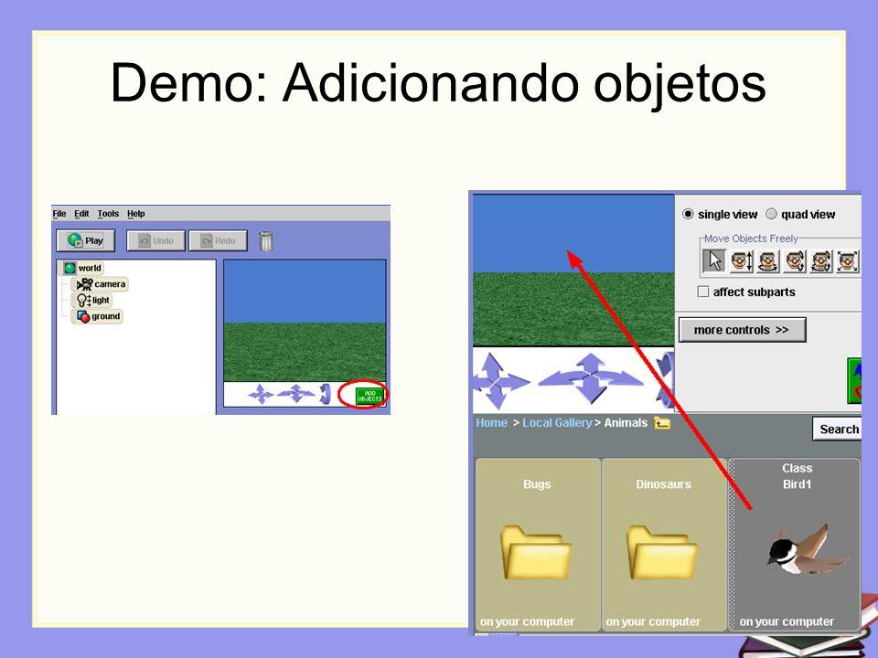 Demo: Adicionando objetos