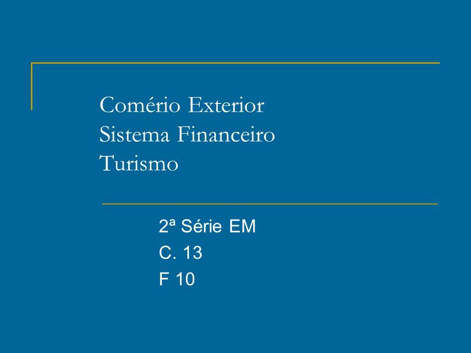 Comério Exterior Sistema Financeiro Turismo 2ª Série EM C. 13 F 10