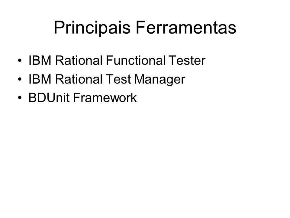 IBM Rational Functional Tester(RFT) Ferramenta de automação de testes de software Agiliza o processo de testes de regressão.