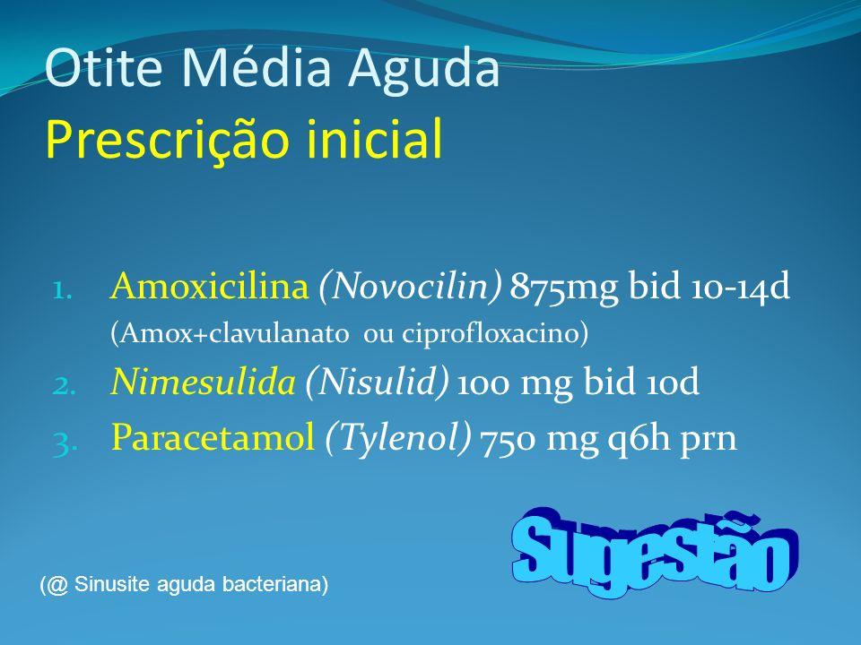 Otite Média Aguda Prescrição inicial 1.