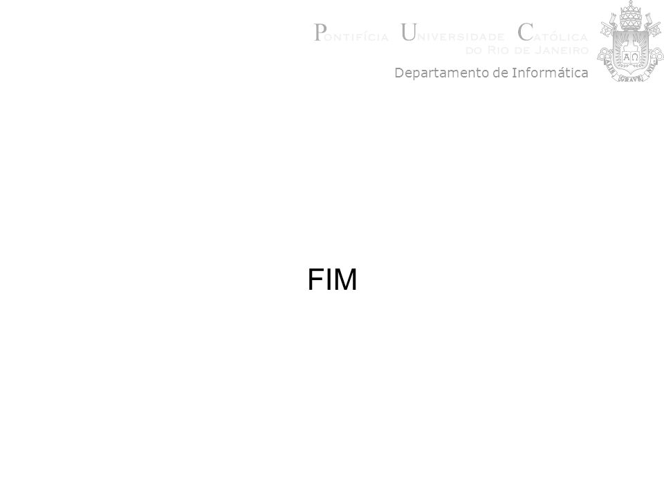 FIM Departamento de Informática