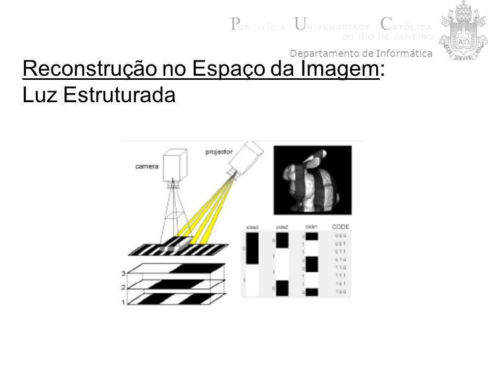Reconstrução no Espaço da Imagem: Luz Estruturada Departamento de Informática
