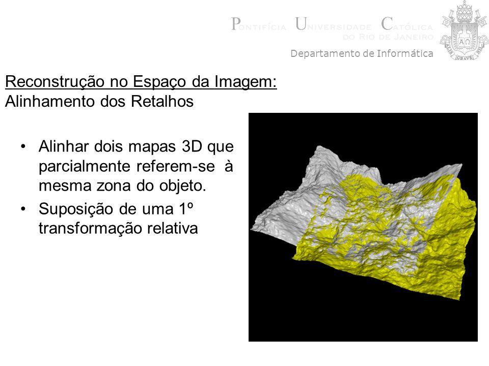Alinhar dois mapas 3D que parcialmente referem-se à mesma zona do objeto. Suposição de uma 1º transformação relativa Departamento de Informática Recon