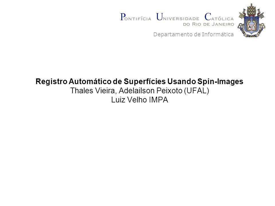 Registro Automático de Superfícies Usando Spin-Images Thales Vieira, Adelailson Peixoto (UFAL) Luiz Velho IMPA Departamento de Informática