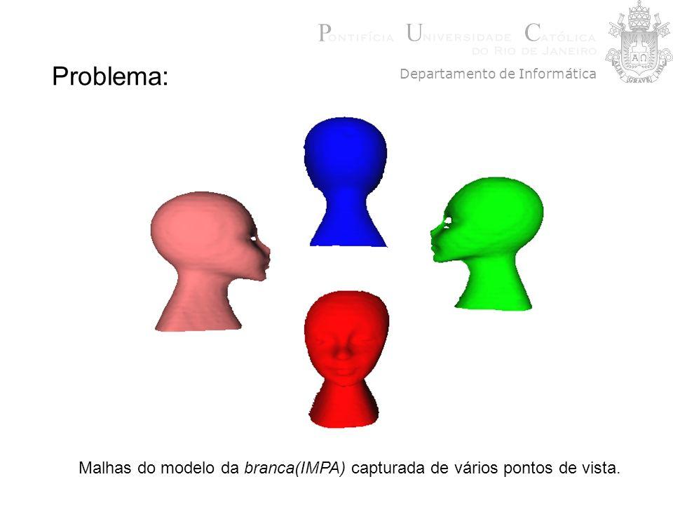 Problema: Malhas do modelo da branca(IMPA) capturada de vários pontos de vista. Departamento de Informática