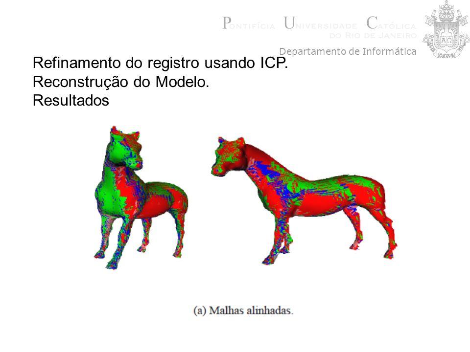 Refinamento do registro usando ICP. Reconstrução do Modelo. Resultados Departamento de Informática