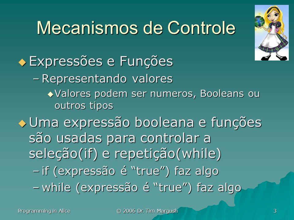 Programming in Alice © 2006 Dr.Tim Margush 24 A Caça.