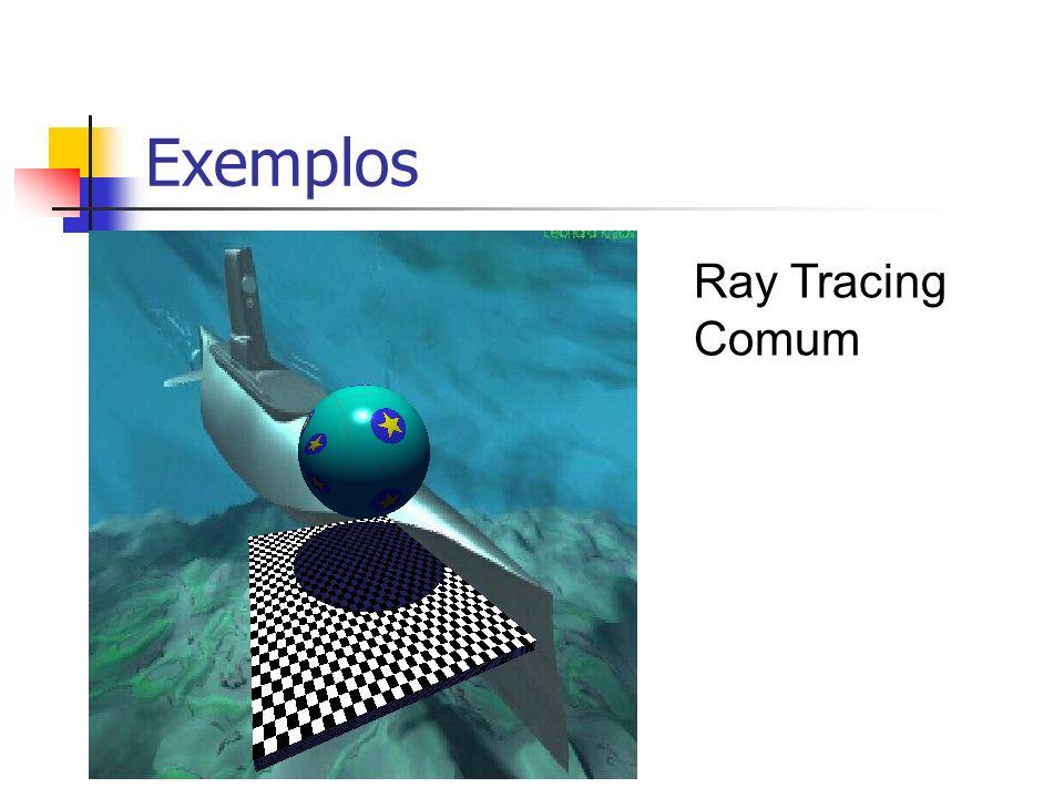 Exemplos Ray Tracing Distribuído n = lado do quadrado de amostragem = 4
