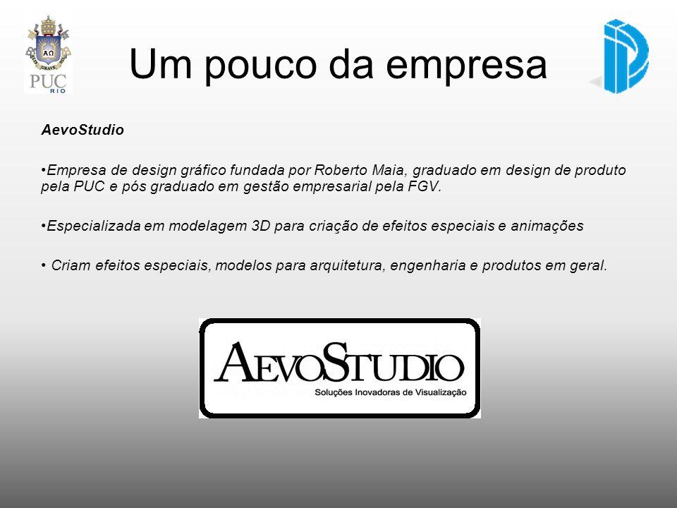 Um pouco da empresa AevoStudio Empresa de design gráfico fundada por Roberto Maia, graduado em design de produto pela PUC e pós graduado em gestão emp