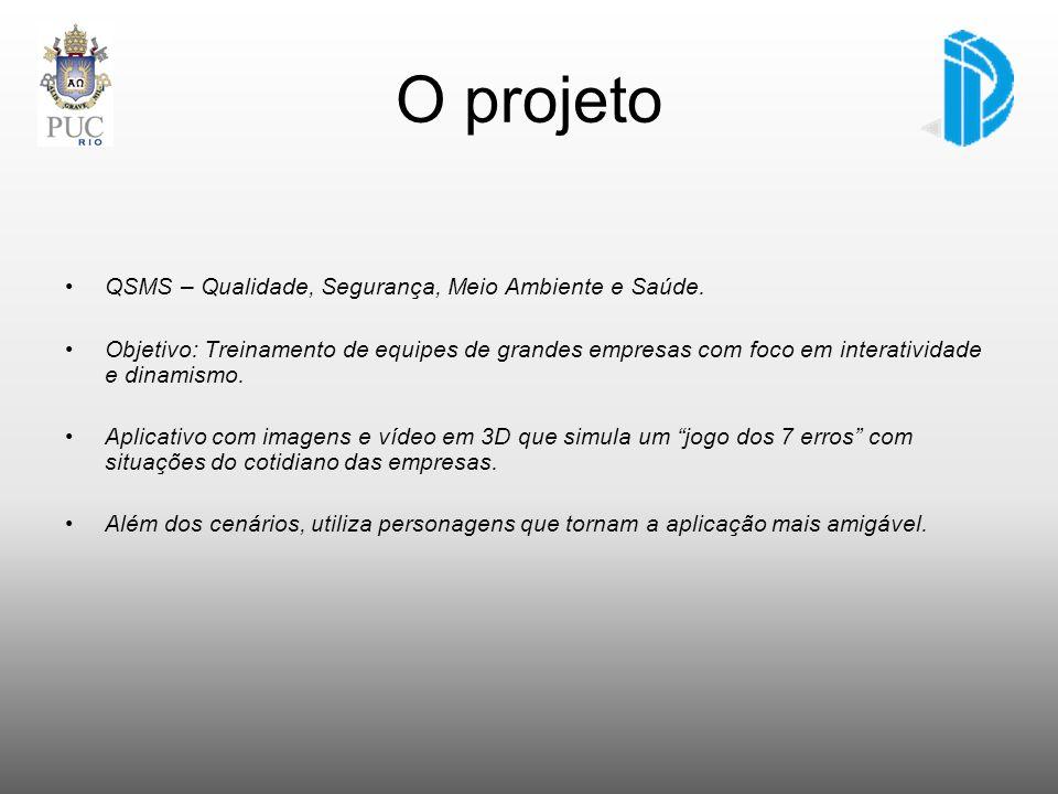 O projeto QSMS – Qualidade, Segurança, Meio Ambiente e Saúde. Objetivo: Treinamento de equipes de grandes empresas com foco em interatividade e dinami