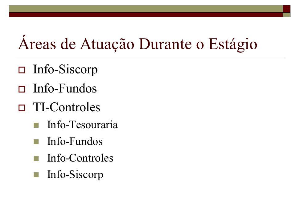 Sistemas da Info-Siscorp Login Corporativo Sistema de Segurança Sistema Comercial Sistema de Aprovação Intranet Sistema de Cadastro dos Clientes do Sistema Financeiro Nacional