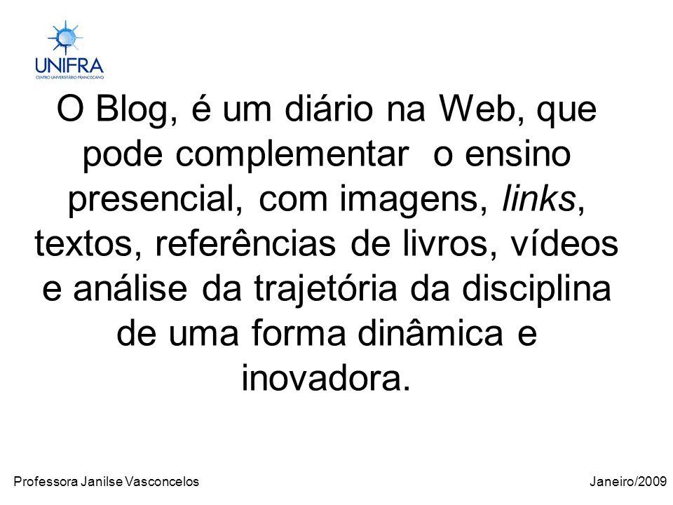 Janeiro/2009Professora Janilse Vasconcelos http://www.slide.com/
