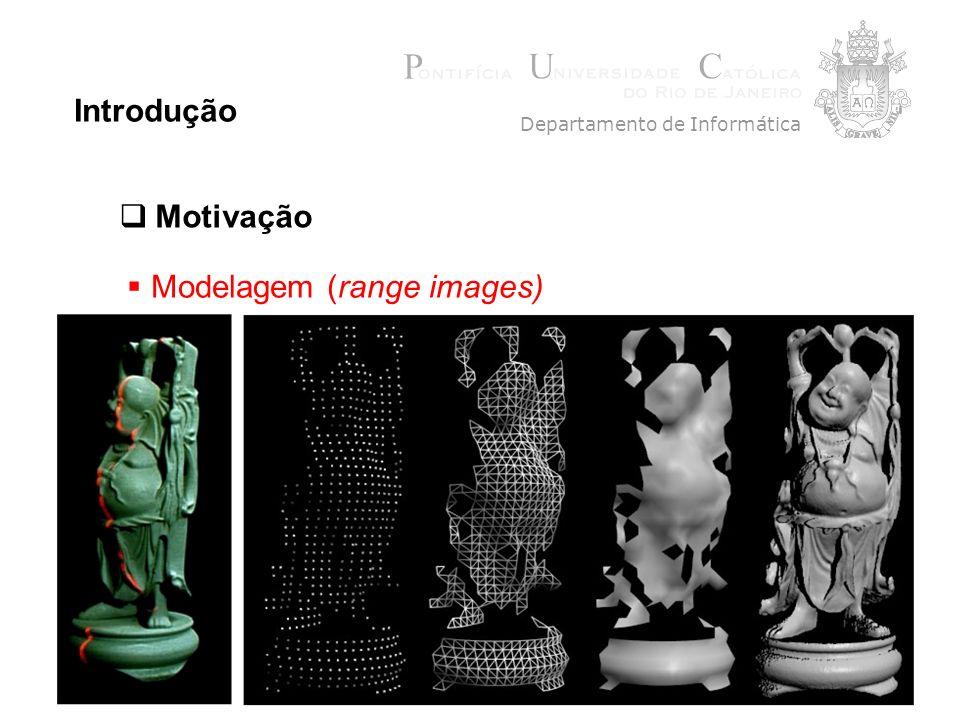 5 Introdução Modelagem (range images) Departamento de Informática Motivação