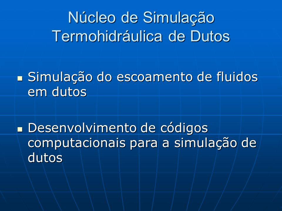 Núcleo de Simulação Termohidráulica de Dutos Simulação do escoamento de fluidos em dutos Simulação do escoamento de fluidos em dutos Desenvolvimento d