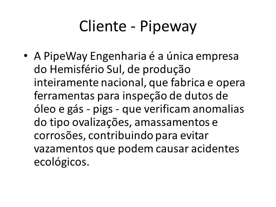 A PipeWay Engenharia é a única empresa do Hemisfério Sul, de produção inteiramente nacional, que fabrica e opera ferramentas para inspeção de dutos de óleo e gás - pigs - que verificam anomalias do tipo ovalizações, amassamentos e corrosões, contribuindo para evitar vazamentos que podem causar acidentes ecológicos.