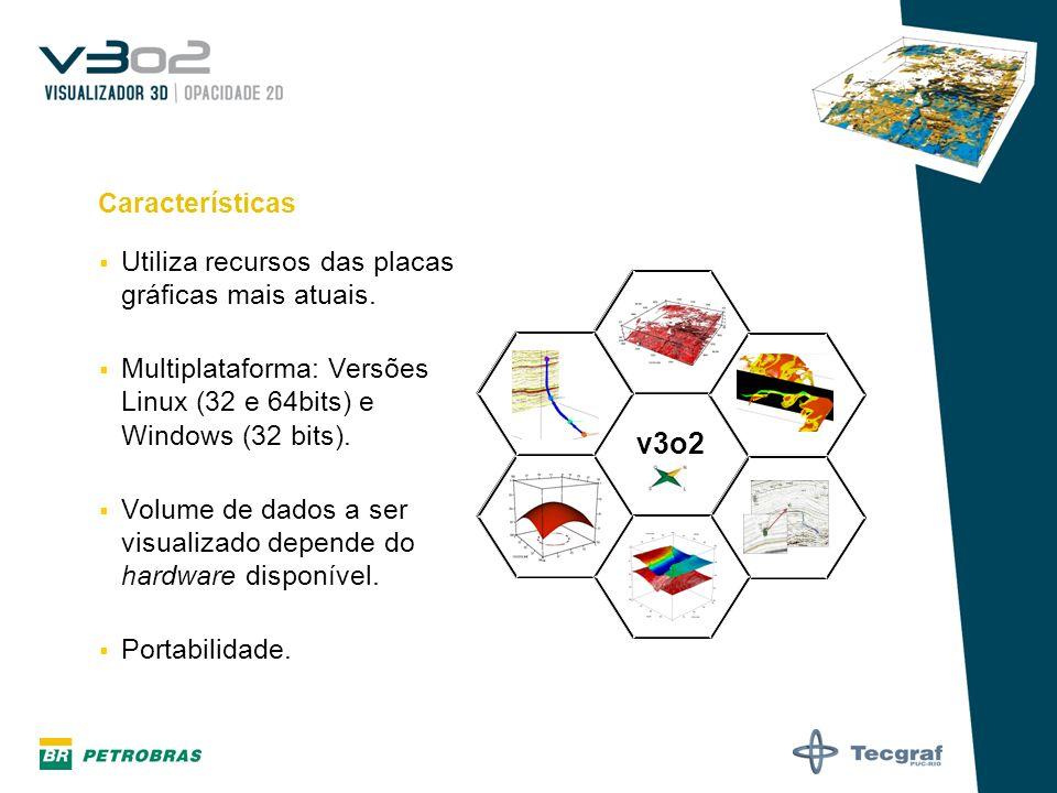 Importação de Horizontes Formatos: XYZ Inline / Crossline / Z XYZ / Atributo Contínuo XYZ / Atributo Discreto Recorte do horizonte no probe