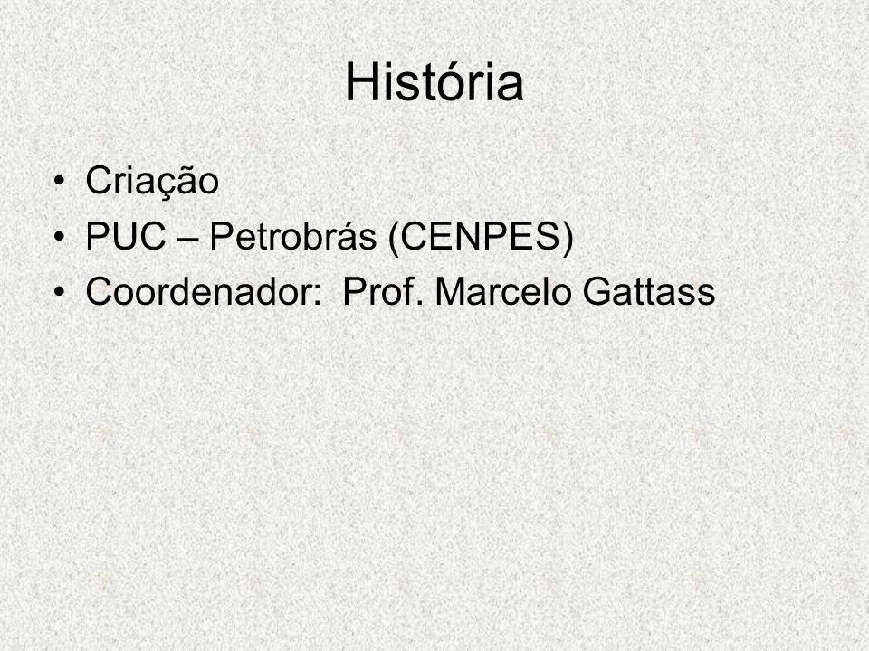 História Criação PUC – Petrobrás (CENPES) Coordenador: Prof. Marcelo Gattass