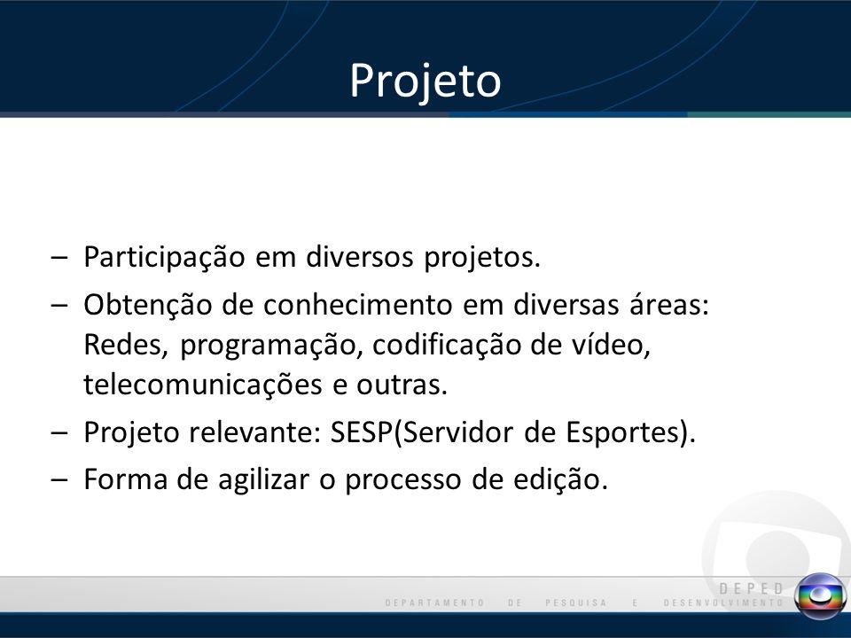 Projeto –Participação em diversos projetos.