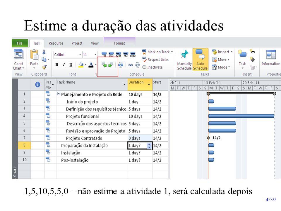 15/39 Analisar as tarefas resumo