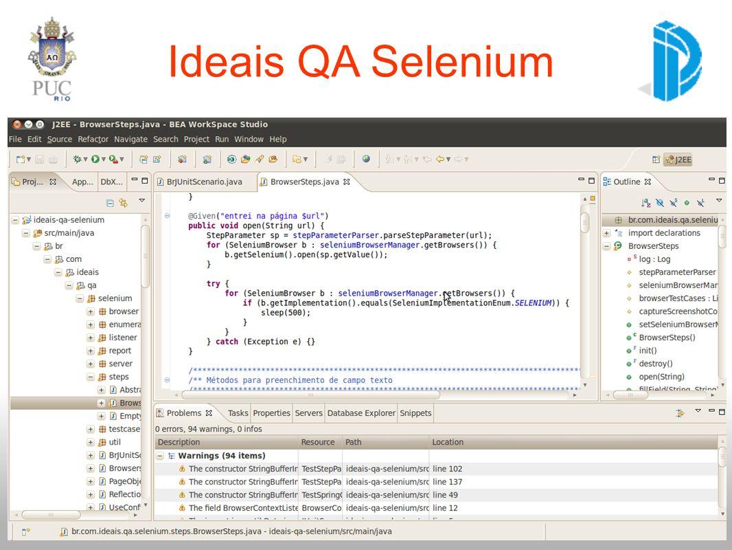Ideais QA Selenium