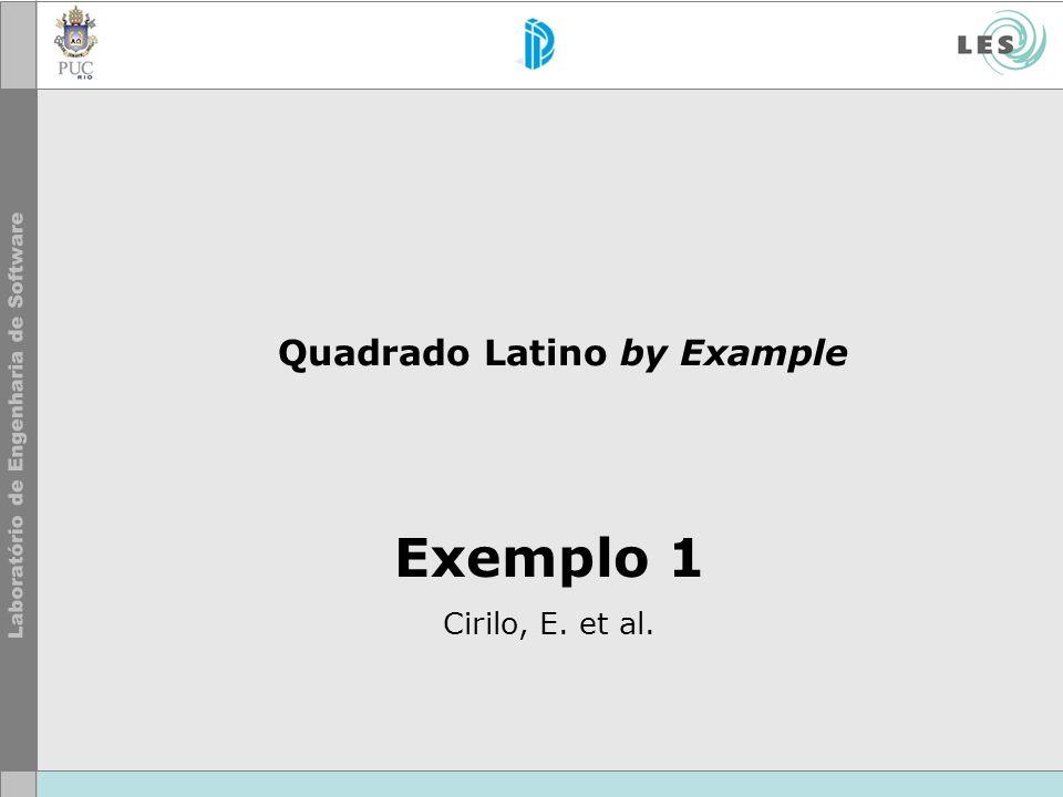 Exemplo 1 Cirilo, E. et al. Quadrado Latino by Example