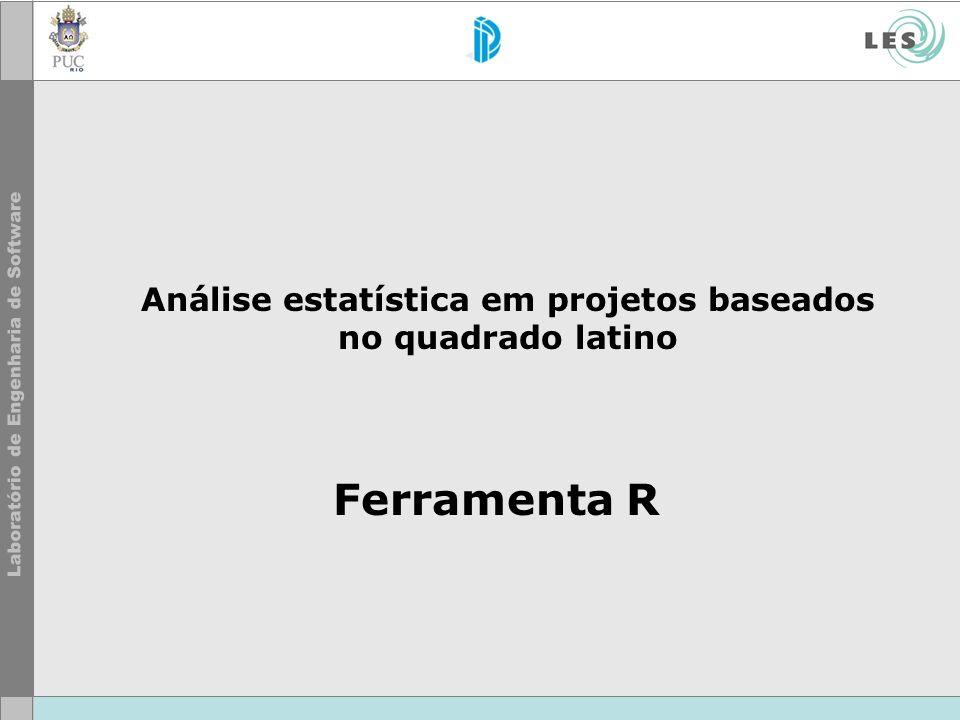 Ferramenta R Análise estatística em projetos baseados no quadrado latino