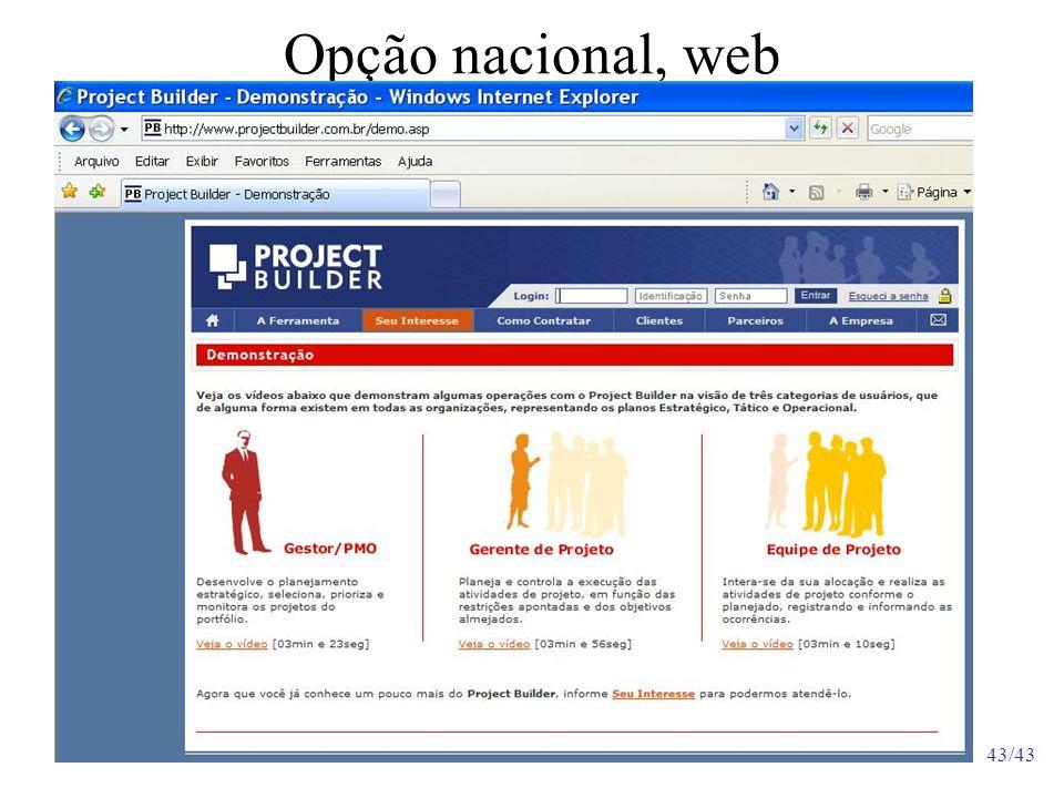 43/43 Opção nacional, web