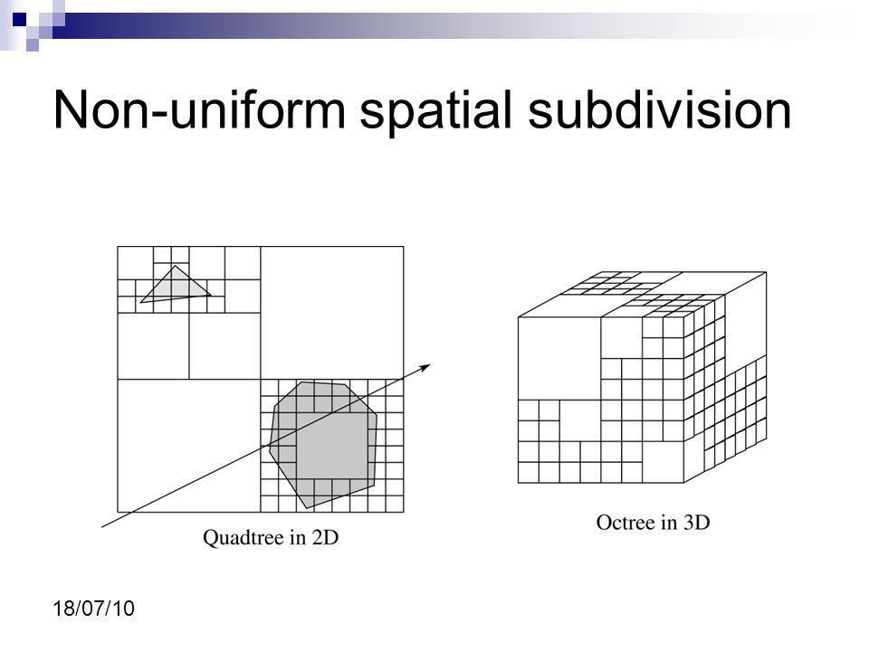 18/07/10 Non Uniform spatial subdivision Octree Cena Octree