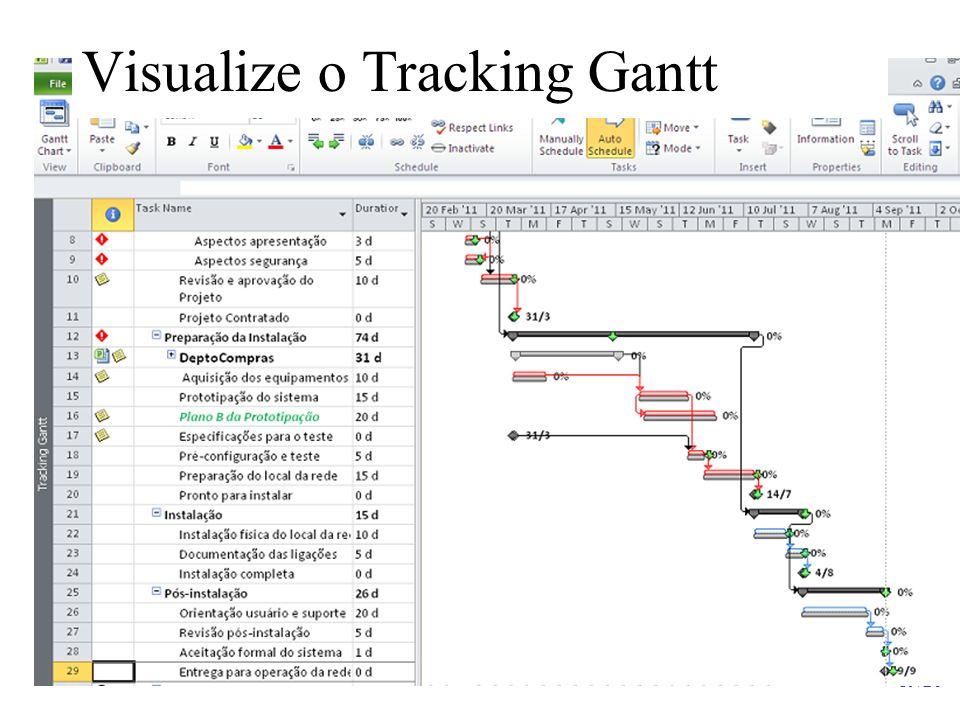 19/20 Visualize o Tracking Gantt