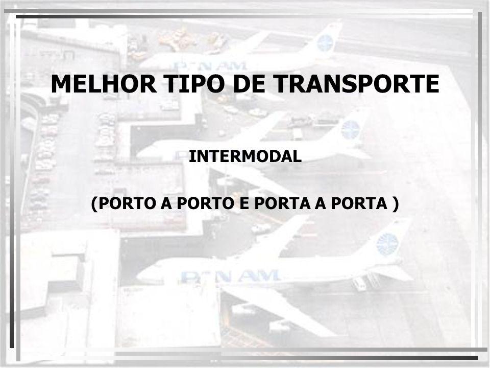 MELHOR TIPO DE TRANSPORTE INTERMODAL (PORTO A PORTO E PORTA A PORTA )