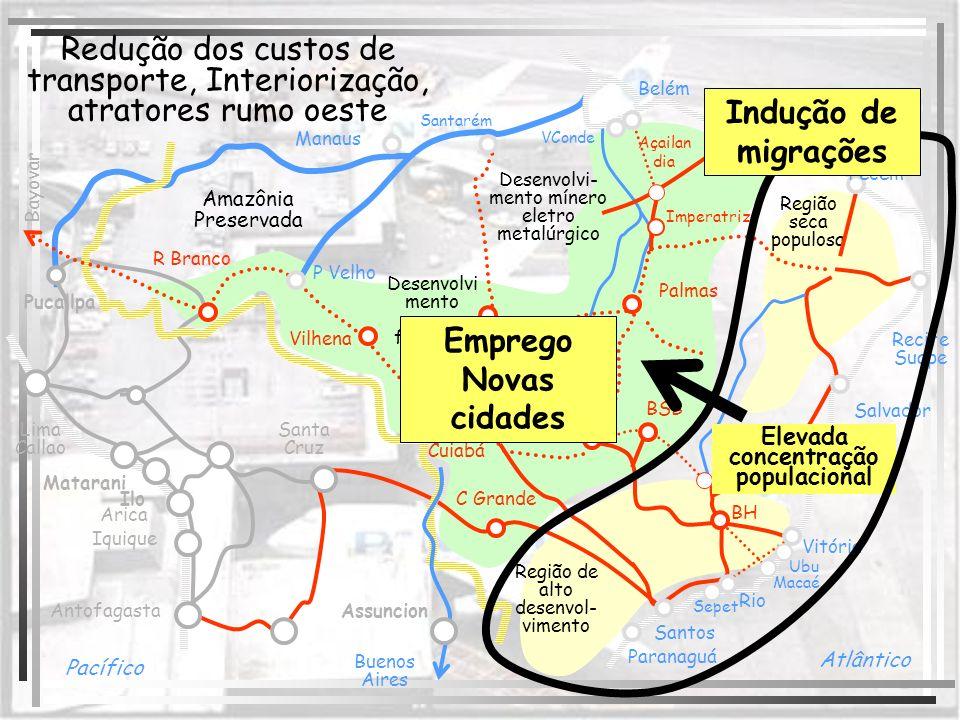 Iquique Ilo Matarani Lima Callao Antofagasta Arica Buenos Aires Assuncion Bayovar Santa Cruz Pucallpa C Grande Cuiabá Vilhena P Velho R Branco Goiânia