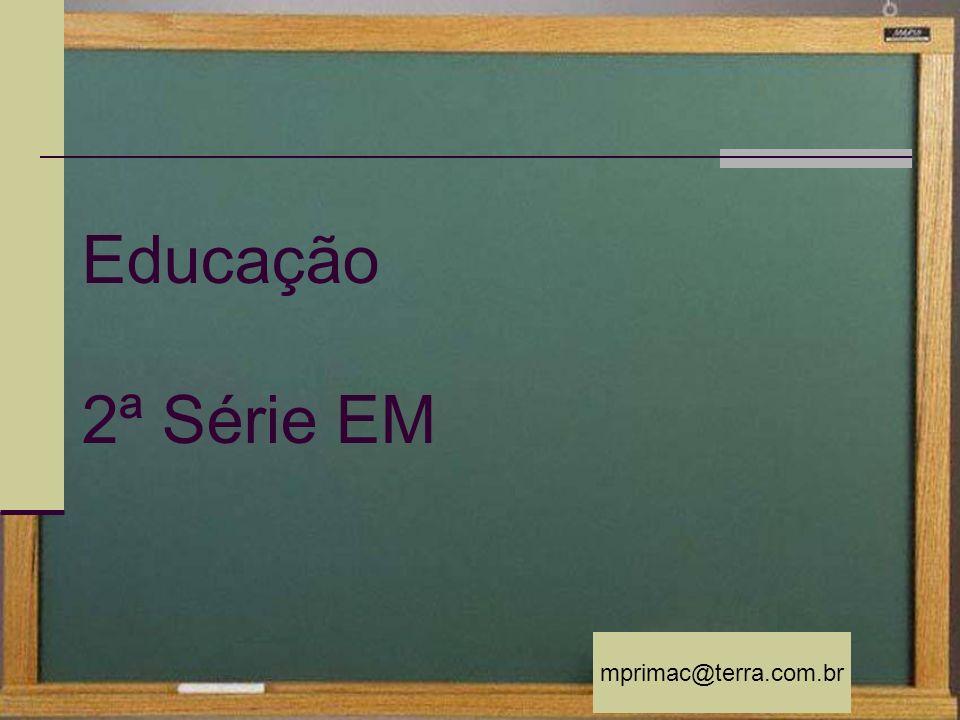 mprimac@terra.com.br no Brasil Hoje Educação no Brasil Hoje Desempenho educacional PISA 2005 (Program for International Students Evaluation) 71ª 71ª colocação entre 121 países 40º Brasil ficou em 40º lugar entre 41 participantes Fontes: Unesco 2005