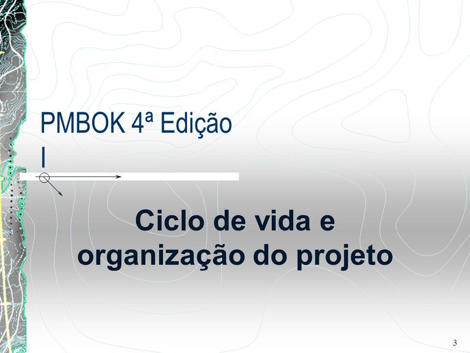 4/15 Ciclo de vida e organização do projeto 2.1 O Ciclo de vida do projeto 2.2 Projeto versus trabalho operacional 2.3 Partes interessadas 2.4 Influências organizacionais no gerenciamento de projetos