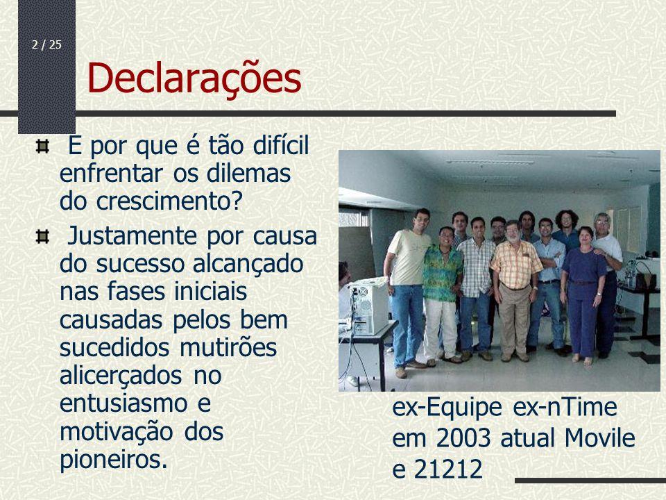 13 / 25 O fim do humanograma As empresas então tendem a ter os dois tipos de necessidades de organização.