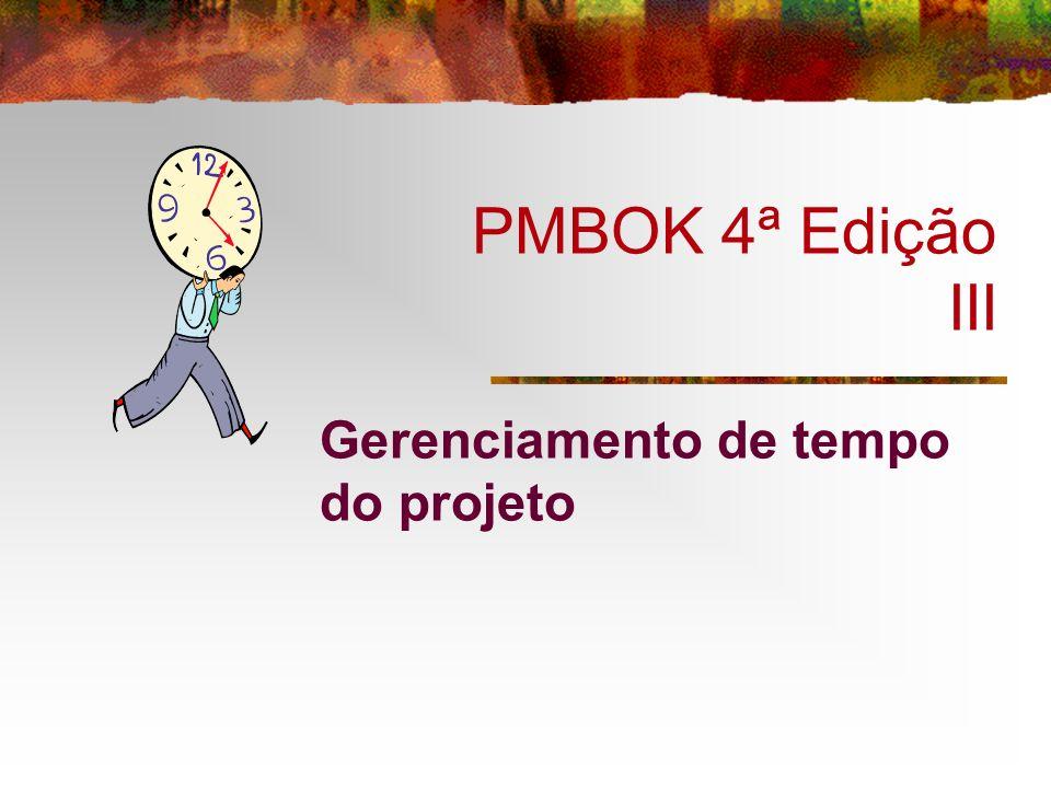 PMBOK 4ª Edição III Gerenciamento de tempo do projeto