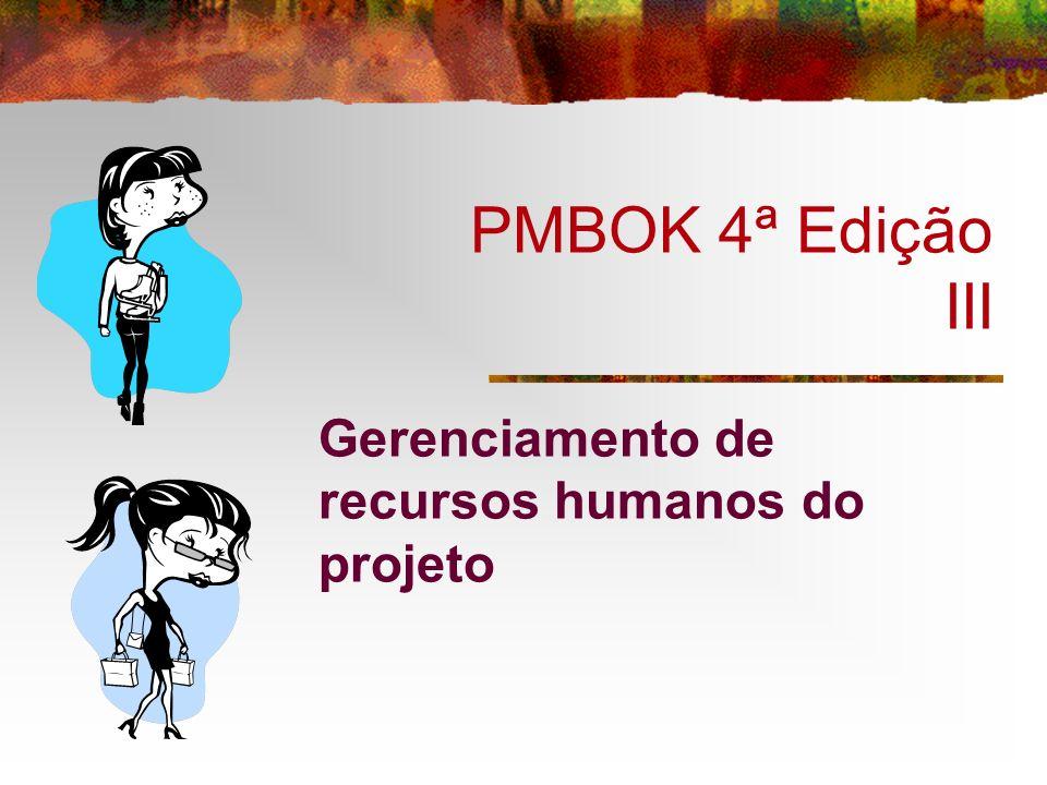 PMBOK 4ª Edição III Gerenciamento de recursos humanos do projeto